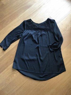 Amisu Kanten blouse zwart