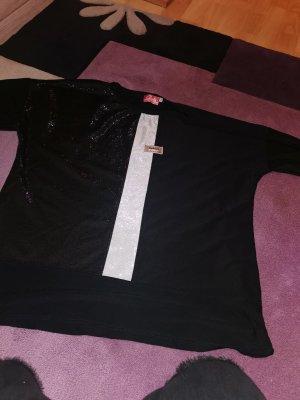 Clara Fijn gebreide cardigan wit-zwart