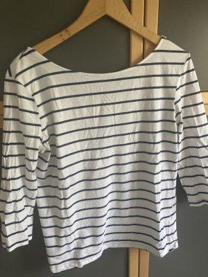 Atmosphere T-shirt rayé blanc-bleu foncé