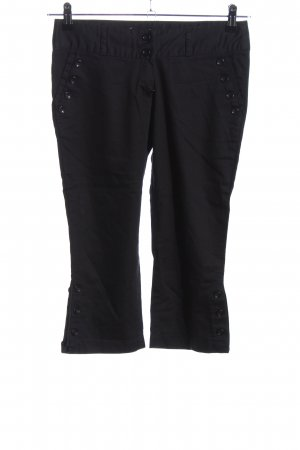 Pantalone a 3/4 nero stile casual