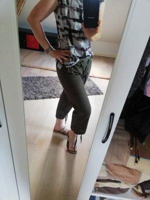 Stooker Spodnie 3/4 khaki Bawełna