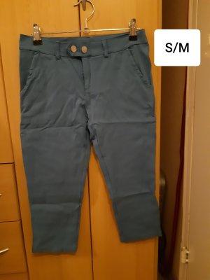 Pantalone a 3/4 azzurro Poliestere