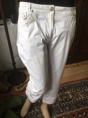 Bonita Pantalon capri blanc coton