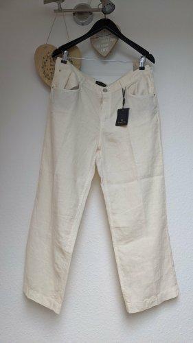 Massimo Dutti Pantalon en lin beige clair lin
