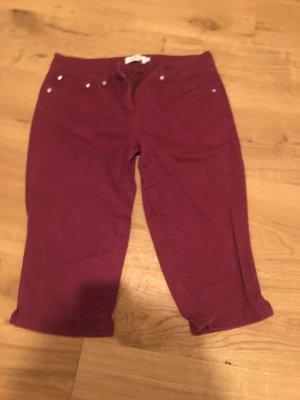 Tom Tailor Denim Pantalon 3/4 bordeau-rouge carmin