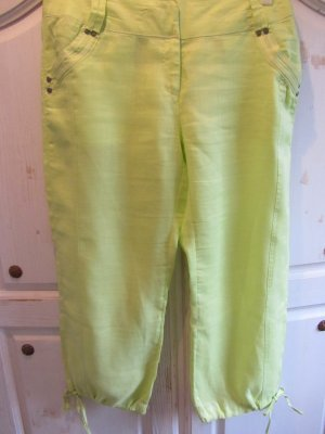 Xanaka 3/4 Length Trousers lime-green-meadow green ramie