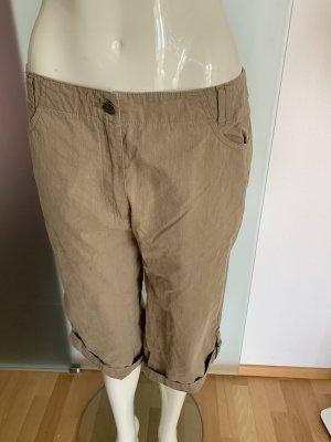 Pantalone a 3/4 marrone-grigio