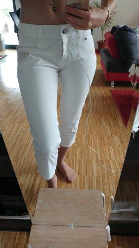 3/4 Hose in weiß