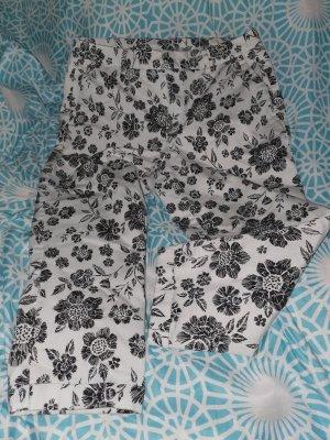 3/4 Hose schwarz /weiß (chino style)