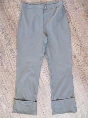 3/4 Hose Stiefelhose hohe Taille Gr.38 Khaki grüngrau