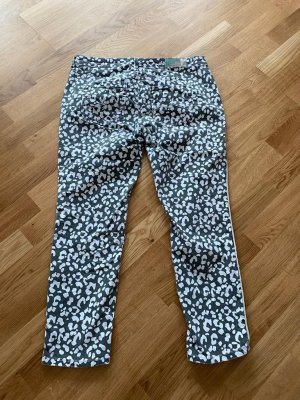 Street One Pantalone a 3/4 bianco-grigio-verde