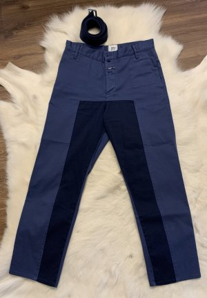 Closed 3/4 Length Trousers blue-dark blue cotton
