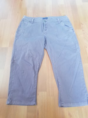 Charles Vögele 3/4 Length Trousers grey violet cotton