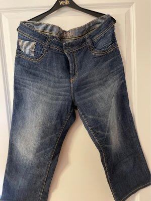 C&A 3/4 Length Trousers dark blue-white