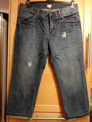 Jeans a 3/4 blu Cotone