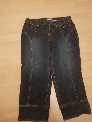 Heine 3/4 Length Jeans dark blue