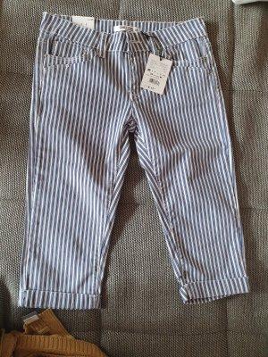3/4 jeans gestreift neu mit etikett