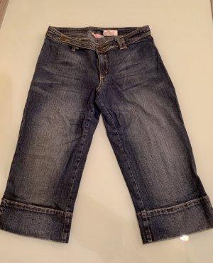Chillytime Pantalon 3/4 bleu acier coton