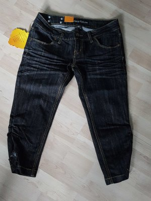 3/4-jeans donkerblauw
