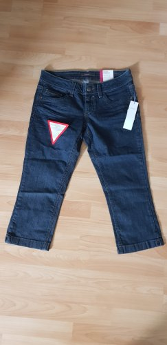 Esprit 3/4 Length Jeans dark blue cotton