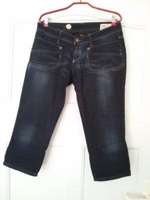 Freesoul Jeans taille basse bleu foncé coton
