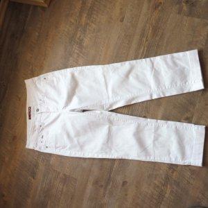 Cambio Jeans Spodnie 3/4 biały-srebrny Bawełna