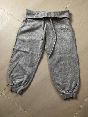 Pantalone a 3/4 grigio-grigio chiaro Cotone