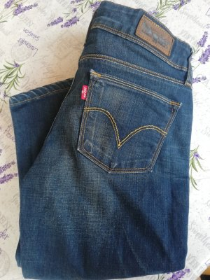 Levi's Pantalon 3/4 bleu foncé
