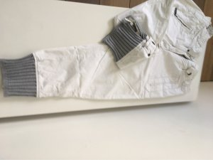 Murphy & nye Pantalon «Baggy» blanc-gris clair coton