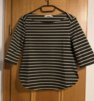 3/4-Pullover schwarz/beige gestreift Mango XS