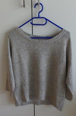 Broadway Maglione lavorato a maglia argento-grigio chiaro