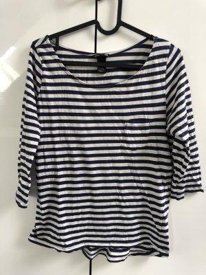 H&M Koszulka w paski ciemnoniebieski-biały