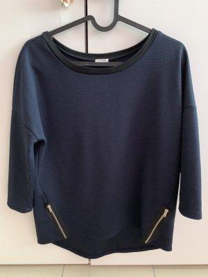 3/4 Shirt- dunkelblau mit Reißverschluss - 34/XS