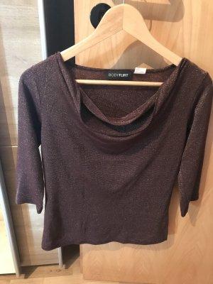 3/4 Shirt in Braun-Gold