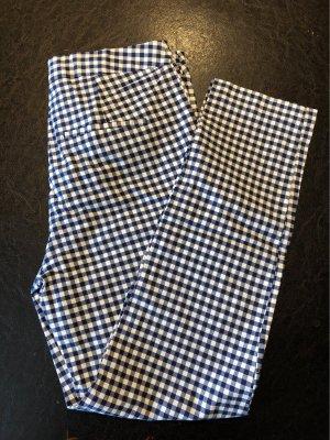 Zara Basic 3/4 Length Trousers white-blue