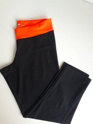 Adidas Spodnie sportowe czarny-pomarańczowy neonowy