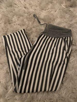 0039 Italy Pantalone a 3/4 grigio chiaro-bianco