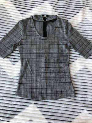 3/4 t-shirt, gr. S, karriert, grau-schwarz