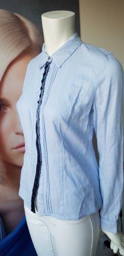 Canda Premium Hemdblouse wit-azuur