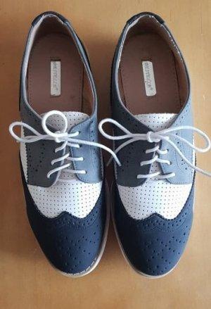 3-farbiger Damen Dandy-Schuh von BESTELLE mit kleiner Plateausohle