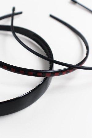 H&M Serre-tête noir-rouge