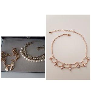 3 Halsketten gold Neu