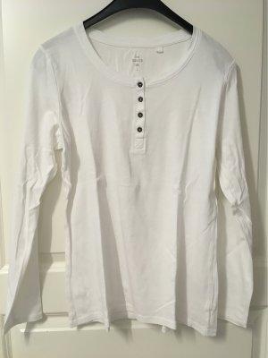 3 langärmelige Shirts weiß, rot, grau