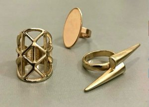 3 RINGE ◉ Metall, gold ◉