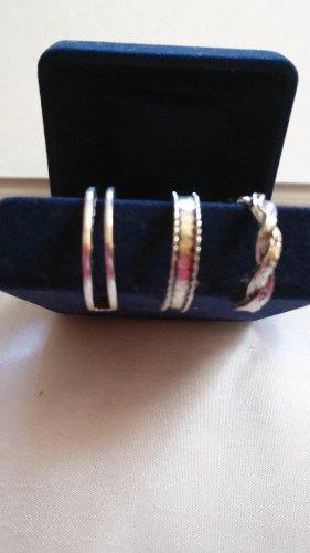 3 Stück offener Ringe tibetanische Silber