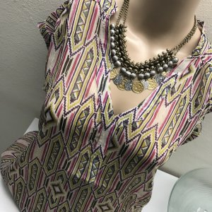 3 Suisses Transparante blouse veelkleurig