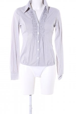 3 Suisses Bodysuit Blouse white-brown striped pattern business style