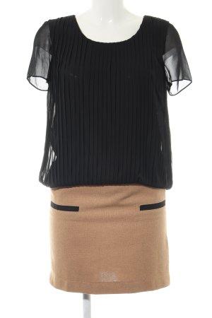 3 Suisses Blusenkleid schwarz-nude Casual-Look