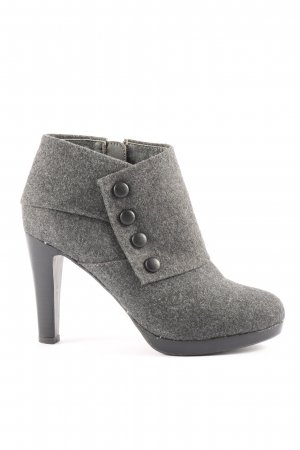 3 Suisses Booties hellgrau Business-Look