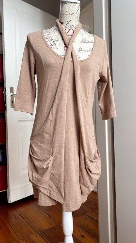 3 Suisses Mini vestido marrón arena